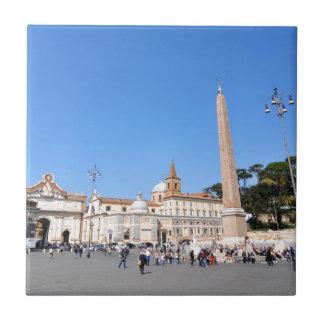 Piazza del Popolo, Rome, Italy Tile