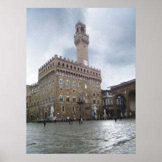 Piazza della Signoria,Florence Poster