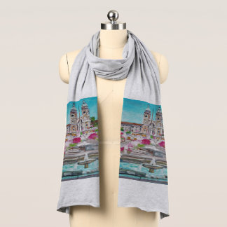 Piazza di Spagna - Heather Grey Jersey Scarf