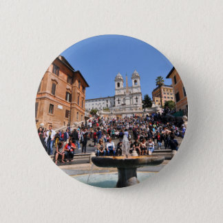 Piazza di Spagna, Rome, Italy 6 Cm Round Badge