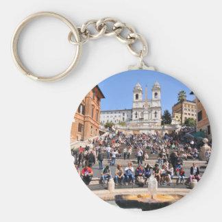 Piazza di Spagna, Rome, Italy Key Ring