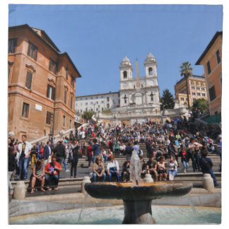 Piazza di Spagna, Rome, Italy Napkin