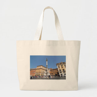 Piazza Navona in Rome, Italy Large Tote Bag