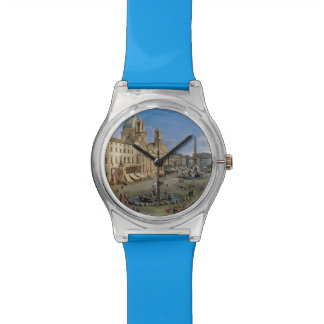 Piazza Navona, Rome custom color art watches