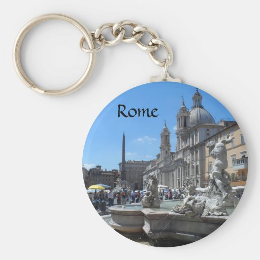 Piazza Navona- Rome, Italy Keychains