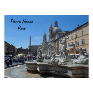 Piazza Navona- Rome, Italy Poster