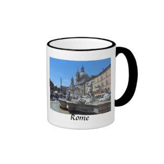 Piazza Navona- Rome, Italy Ringer Mug