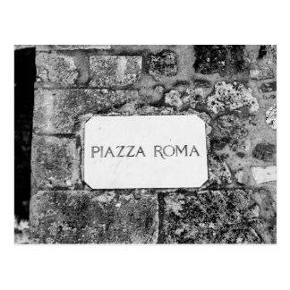 Piazza Roma Postcard