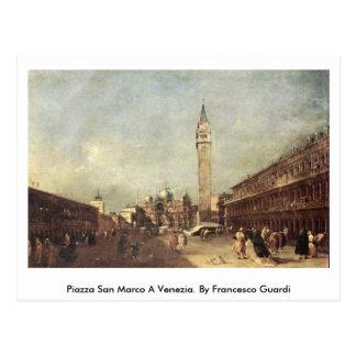 Piazza San Marco A Venezia. By Francesco Guardi Postcard