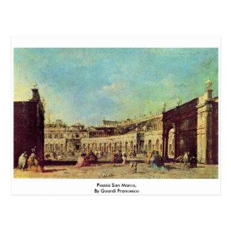 Piazza San Marco, By Guardi Francesco Postcard