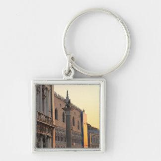 Piazza San Marco (St. Mark's Square, Venice Silver-Colored Square Key Ring