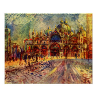 Piazza San Marco Venice by Renoir Posters