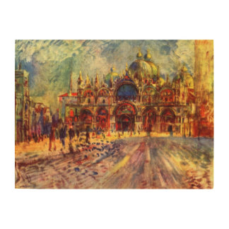 Piazza San Marco Venice by Renoir Wood Canvas