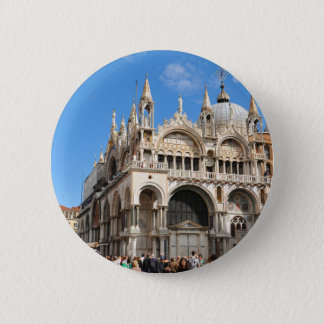 Piazza San Marco, Venice, Italy 6 Cm Round Badge