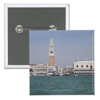 Piazza San Marco Venice Italy 15 Cm Square Badge