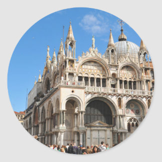 Piazza San Marco, Venice, Italy Classic Round Sticker