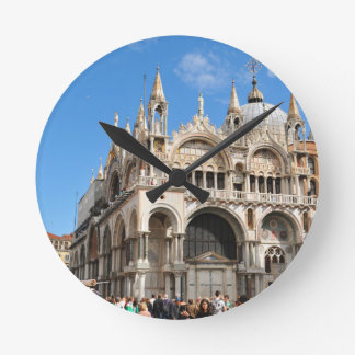 Piazza San Marco, Venice, Italy Round Clock