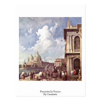 Piazzetta In Venice By Canaletto (Ii) Postcard
