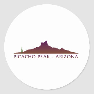 Picacho Peak - Arizona Classic Round Sticker