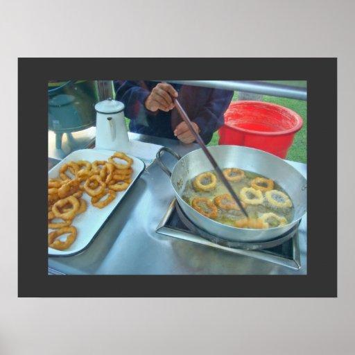 Picarones Frying Poster