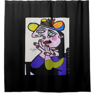 PICASSO BUG EYES SHOWER CURTAIN