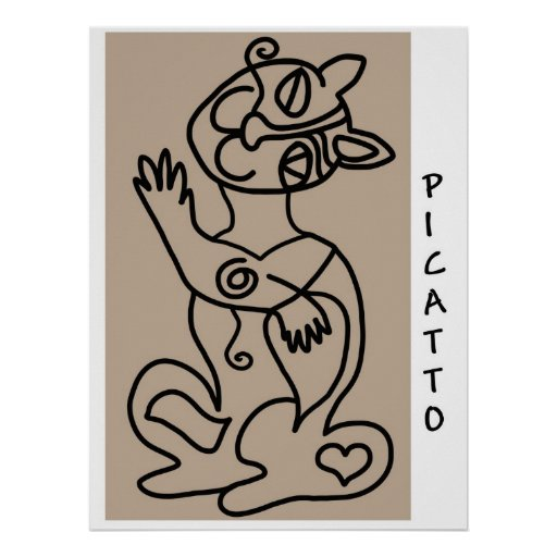 PICATTO black on buff Posters