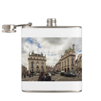 Piccadilly Circus Hip Flask