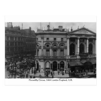 Piccadilly Circus London 1904, England U.K. Postcard