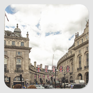 Piccadilly Circus Square Sticker