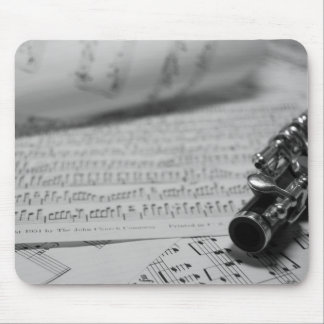 Piccolo and sheet music mouse pad