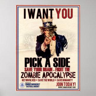 Pick a Side Uncle Sam Poster