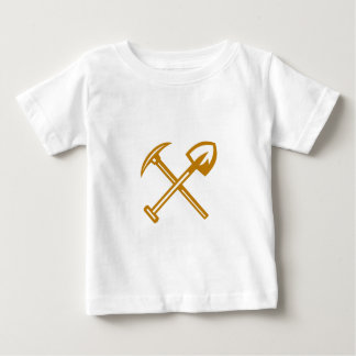 Pick Axe Shovel Crossed Retro Baby T-Shirt