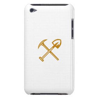 Pick Axe Shovel Crossed Retro iPod Case-Mate Cases