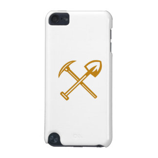 Pick Axe Shovel Crossed Retro iPod Touch (5th Generation) Cases
