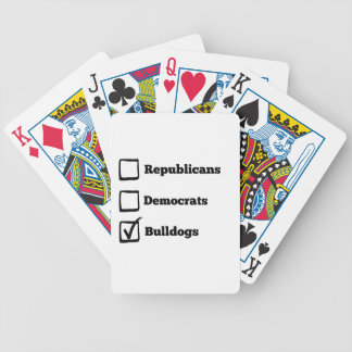 Pick Bulldogs! Political Election Dog Print Poker Deck