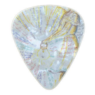 Pick Christ Pearl Celluloid Guitar Pick