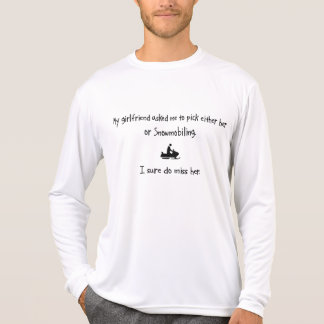 Pick Girlfriend or Snowmobiling T-Shirt