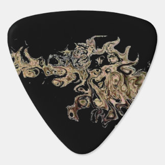 Pick on fire guitar pick