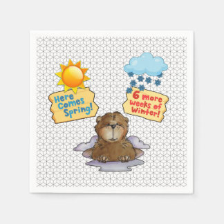 Pick One Groundhog Day Party Paper Napkins