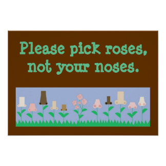 Pick Roses not Noses Posters