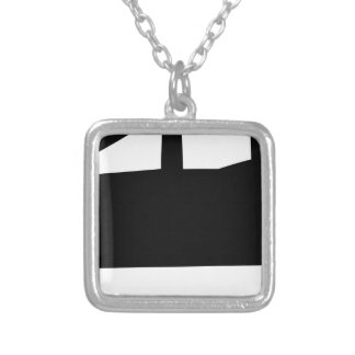 Pick Up Truck Silver Plated Necklace