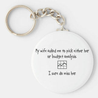 Pick Wife or Budget Analysis Key Chains