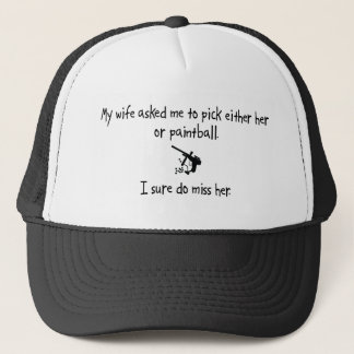 Pick Wife or Paintball Trucker Hat