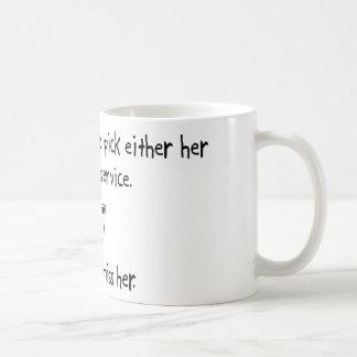 Pick Wife or Postal Service Coffee Mug