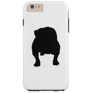 Pick Your Color Chevron Bulldog Silhouette Tough iPhone 6 Plus Case