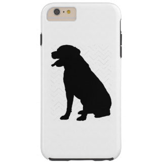Pick Your Color Chevron Labrador Silhouette Tough iPhone 6 Plus Case
