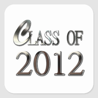 Pick Your Color Class Of 2012 Graduation Stickers