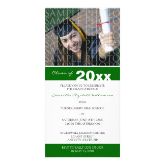 Pick YOUR Color Custom Graduation Announcement Photo Card Template