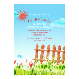 Picket Fence Invitation