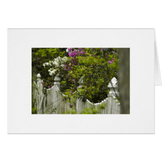 Picket Fence Note Card